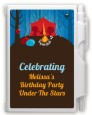 Camping - Birthday Party Personalized Notebook Favor thumbnail