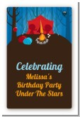 Camping - Custom Large Rectangle Birthday Party Sticker/Labels