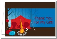 Camping - Birthday Party Thank You Cards