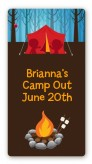 Camping - Custom Rectangle Birthday Party Sticker/Labels