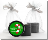 Candy Cane - Christmas Black Candle Tin Favors