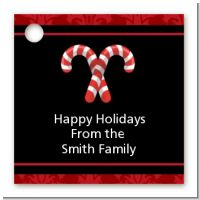 Candy Canes - Personalized Christmas Card Stock Favor Tags