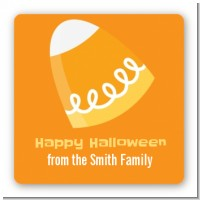 Candy Corn - Square Personalized Halloween Sticker Labels