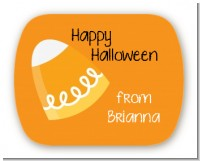 Candy Corn - Personalized Halloween Rounded Corner Stickers
