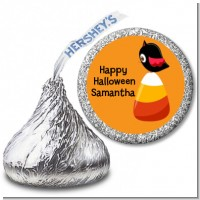 Candy Corn with Bird - Hershey Kiss Halloween Sticker Labels