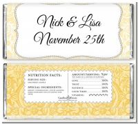 Pale Yellow & Brown - Personalized Bridal Shower Candy Bar Wrappers