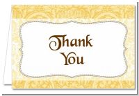 Pale Yellow & Brown - Bridal Shower Thank You Cards
