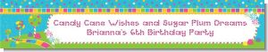 Candy Land - Personalized Birthday Party Banners