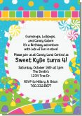 Candy Land - Birthday Party Invitations