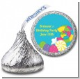 Candy Land - Hershey Kiss Birthday Party Sticker Labels thumbnail