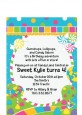 Candy Land - Birthday Party Petite Invitations thumbnail