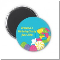 Candy Land - Personalized Birthday Party Magnet Favors