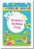 Candy Land - Custom Large Rectangle Birthday Party Sticker/Labels
