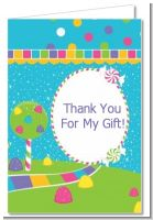 Candy Land - Birthday Party Thank You Cards