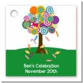 Candy Tree - Personalized Birthday Party Card Stock Favor Tags