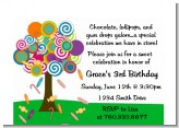 Candy Tree - Birthday Party Petite Invitations