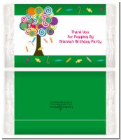 Candy Tree - Personalized Popcorn Wrapper Birthday Party Favors