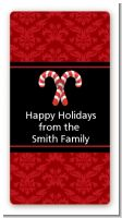 Candy Canes - Custom Rectangle Christmas Sticker/Labels