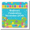Candy Land - Square Personalized Birthday Party Sticker Labels thumbnail