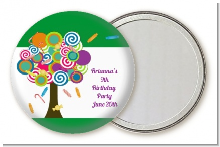 Candy Tree - Personalized Birthday Party Pocket Mirror Favors