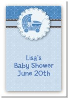 Carriage - Custom Large Rectangle Baby Shower Sticker/Labels