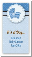 Carriage Blue - Custom Rectangle Baby Shower Sticker/Labels