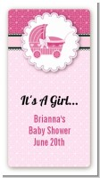 Carriage Pink - Custom Rectangle Baby Shower Sticker/Labels