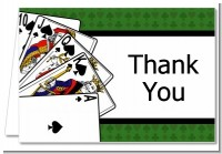 Casino Night Royal Flush - Birthday Party Thank You Cards