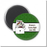 Casino Night Royal Flush - Personalized Birthday Party Magnet Favors