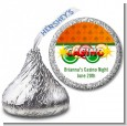 Casino Night Vegas Style - Hershey Kiss Birthday Party Sticker Labels thumbnail