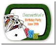 Casino Night Royal Flush - Personalized Birthday Party Rounded Corner Stickers thumbnail