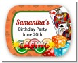 Casino Night Vegas Style - Personalized Birthday Party Rounded Corner Stickers thumbnail