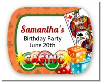 Casino Night Vegas Style - Personalized Birthday Party Rounded Corner Stickers