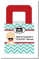 Little Man Mustache - Personalized Baby Shower Favor Boxes