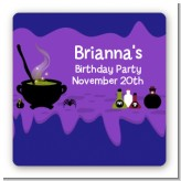 Cauldron & Potions - Square Personalized Birthday Party Sticker Labels
