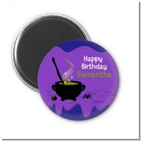 Cauldron & Potions - Personalized Birthday Party Magnet Favors