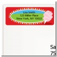 Circus Cotton Candy - Birthday Party Return Address Labels thumbnail