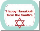 Celebrate Hanukkah - Personalized Hanukkah Rounded Corner Stickers