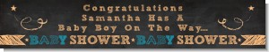 Baby Boy Chalk Inspired - Personalized Baby Shower Banners