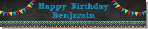 Birthday Boy Chalk Inspired - Personalized Birthday Party Banners