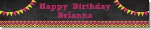 Birthday Girl Chalk Inspired - Personalized Birthday Party Banners