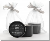 Chalkboard Celebration - Graduation Party Black Candle Tin Favors