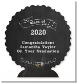Chalkboard Celebration - Personalized Graduation Party Centerpiece Stand
