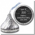 Chalkboard Celebration - Hershey Kiss Graduation Party Sticker Labels thumbnail