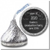 Chalkboard Celebration - Hershey Kiss Graduation Party Sticker Labels