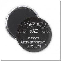Chalkboard Celebration - Personalized Graduation Party Magnet Favors