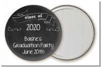 Chalkboard Celebration - Personalized Graduation Party Pocket Mirror Favors