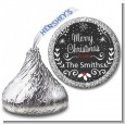 Chalkboard Mistletoe - Hershey Kiss Christmas Sticker Labels thumbnail