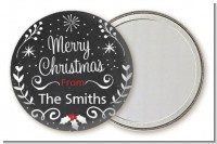 Chalkboard Mistletoe - Personalized Christmas Pocket Mirror Favors