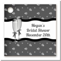 Champagne Glasses - Personalized Bridal Shower Card Stock Favor Tags